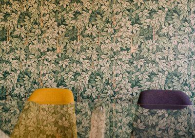 Papel hecho a mano textura hojas