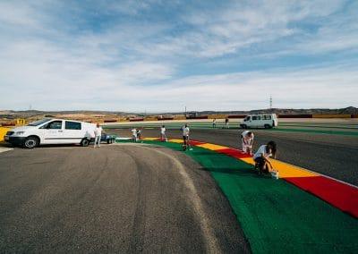 Preparación pista Motorland 01