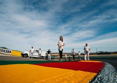 Preparación pista Motorland 02