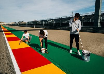 Preparación pista Motorland 03